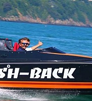 Steve Roussels Flash Back hits the water